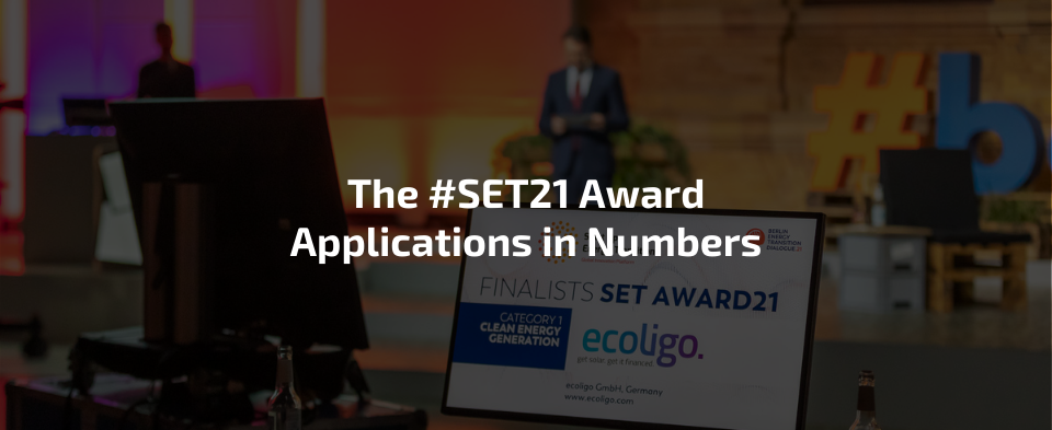 Application SET Award 2021 in Numbers
