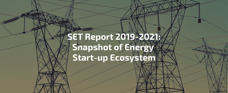 SET Report 2019 – 2021: Snapshot of the Start-up Energy Ecosystem with transmission lines in the background.